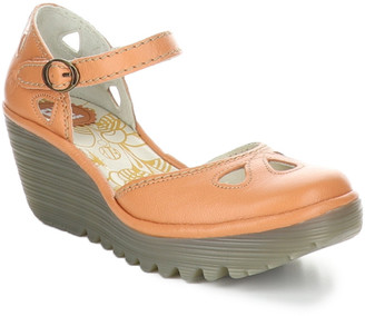 Fly London Yuna Leather Wedge Sandal