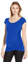 Jules & Jim Women's Maternity Basic Top with Knot