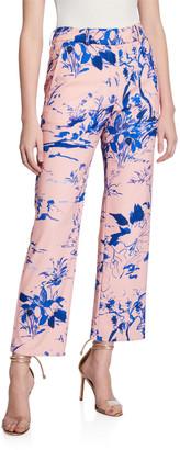 Sies Marjan Watercolor Floral Crop Pants