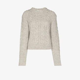 Cecilie Bahnsen Cable Knit Open Back Sweater