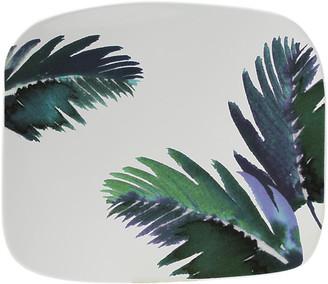 Gien Jardins Square Serving Plate - White/Blue