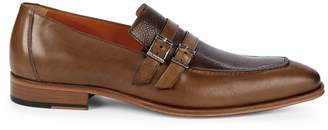 Mezlan Leather Monk Strap Loafers