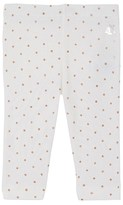 Petit Bateau Baby girls leggings with sparkly polka dots