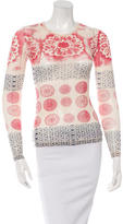 Anna Sui Floral Print Long Sleeve Top