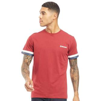 Lambretta Mens Crew Neck T-Shirt Burgundy