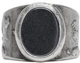 Maison Margiela Silver Large Oval Face Ring