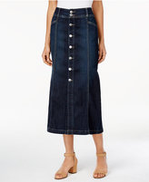 Style&Co. Style & Co Button-Front Midi Denim Skirt, Only at Macy's