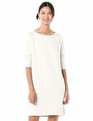 Goodthreads Amazon Brand Women's Relaxed Fit Modal Fleece Crewneck Long Sleeve Sweatshirt Dress