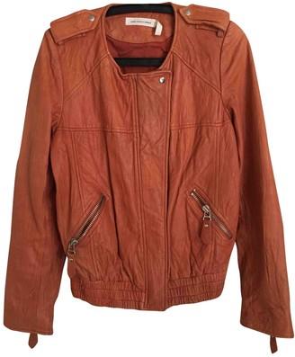 Etoile Isabel Marant Orange Leather Leather Jacket for Women