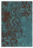 "Orian Lovan Overdye Area Rug - Aqua (6'7""x9'8"")"