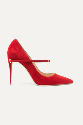 Jennifer Chamandi Lorenzo 105 Suede Pumps - Red