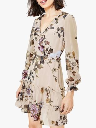 Oasis Botanical Floral Skater Dress, Multi