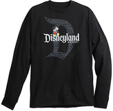 Disney Mickey Mouse with Disneyland Logo Long Sleeve Tee for Adults - Black