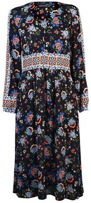 SET Womens Long Sleeve Printed Dress