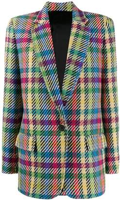 ATTICO colour-block houndstooth blazer