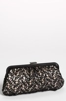 Menbur 'Crochet Floral' Clutch - Black