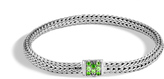 John Hardy Women's Classic Chain 5MM Bracelet in Sterling Silver with Chrome Tourmaline
