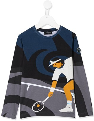 MonnaLisa long sleeve tennis man print T-shirt