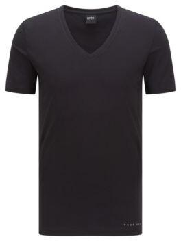 BOSS Slim-fit underwear T-shirt in a Coolmax cotton blend
