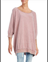 Free People Three-Quarter Sleeved Pullover