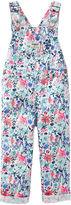 Osh Kosh Oshkosh Navy Floral-Print Overalls - Baby Girls newborn-24m