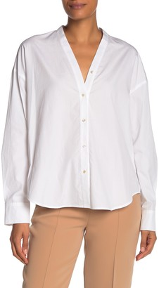 Vince V-Neck Button Down Shirt