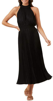 French Connection High Neck Pleated Dress