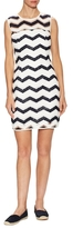 Milly Cotton Seamed Strip Shift Dress
