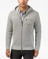 INC International Concepts Men's Zip-Front Hoodie with Faux Fur Lining, Created for Macy's