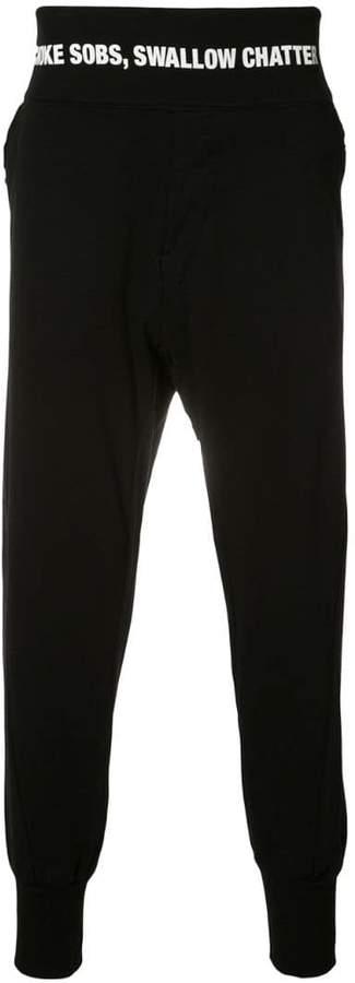 Niløs drop crotch track pants