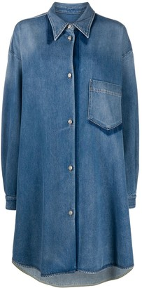 MM6 MAISON MARGIELA Long-Sleeve Denim Shirt Dress