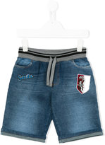 Dolce & Gabbana jazz club patch denim shorts - kids - Cotton/Polyester/Polypropylene/Viscose - 2 yrs