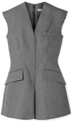 Stella McCartney Frayed Wool And Cotton-blend Jacquard Vest