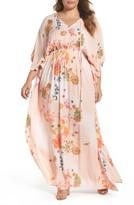 Melissa McCarthy Plus Size Women's Print Gauze Maxi Dress