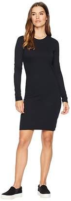 Hurley Dri-FIT Long Sleeve Dress (Black) Women's Dress