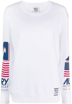 AUTRY Side Logo Print Round Neck Sweatshirt
