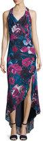 Haute Hippie Silk Sleeveless Cowl-Neck Dress, Printed
