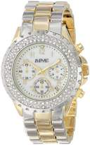 August Steiner Women's AS8031TTG Crystal Mother-Of-Pearl Chronograph Bracelet Watch