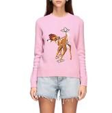 Miu Miu Crew Neck Sweater With Bambi