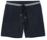 Orlebar Brown Dearne Contrast-trimmed Waffle-knit Cotton Drawstring Shorts - Midnight blue