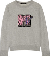 Marc Jacobs Appliquéd Cotton-terry Sweatshirt - Gray