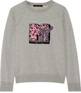 Marc Jacobs Appliquéd Cotton-terry Sweatshirt - small