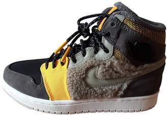 Jordan Air 1 Black Faux fur Trainers