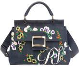 Roger Vivier Viv Flower Cabas Satchel Bag
