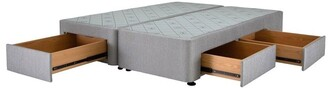 Sealy Space Saver Left Hand 2 Drawer Base Granite Grey Half