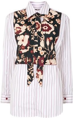 Ports 1961 Floral Panel Long-Sleeve Shirt