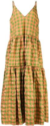 Marques Almeida Marques'almeida checked flared dress