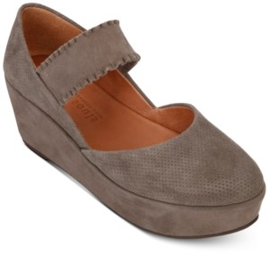 Gentle Souls by Kenneth Cole Women's Nyssa Ruffle-Strap Mary-Jane Wedges Women's Shoes