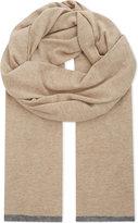 Brunello Cucinelli Contrast tipping cashmere scarf