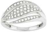 Journee Collection 1/2 CT. T.W. Round-cut Diamond Pave Set Swirl Split Ring in Sterling Silver (HI-I3)